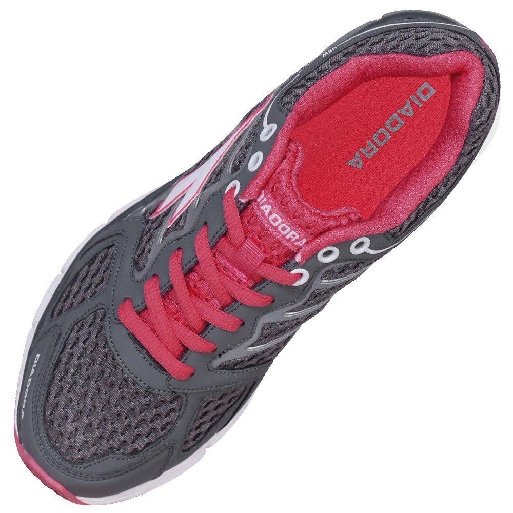 Tênis Diadora New Stratus - Grafite e Pink - Compre Agora  a39ccd375c8