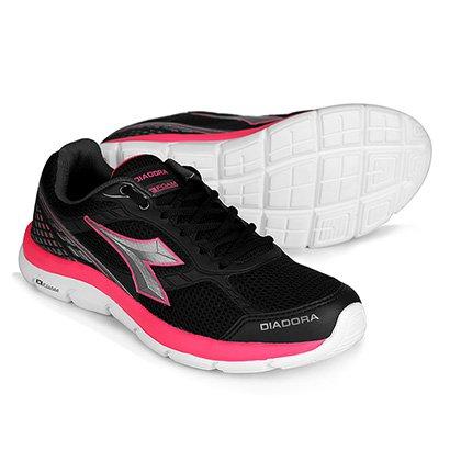 c5ecfa7f0a8 Tênis Diadora Strong Feminino - Preto e Pink - Compre Agora