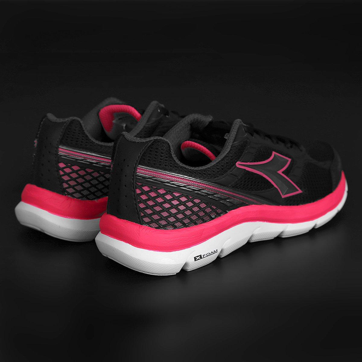 Tênis Diadora Strong Feminino - Preto e Pink - Compre Agora  c65eb7d03135d