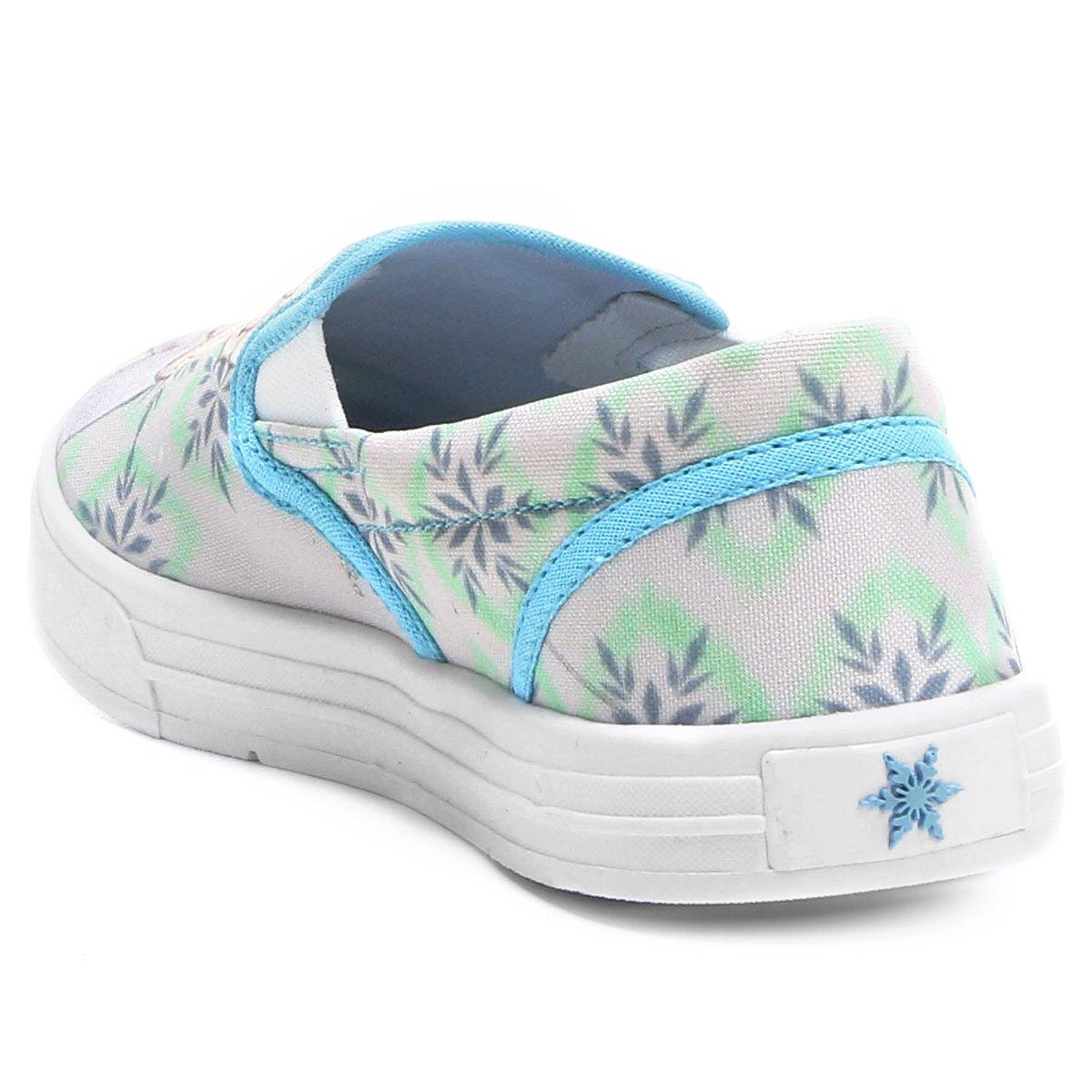 Tênis Disney Iate Elsa Infantil - Azul e Branco - Compre Agora ... 02cdc2005b7bb