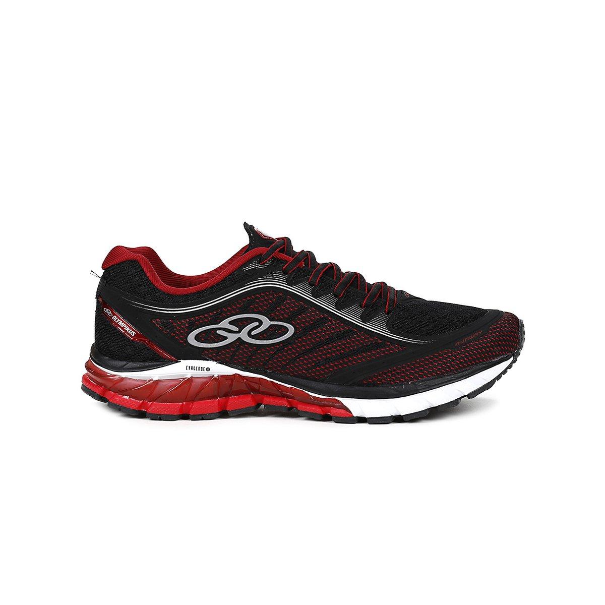 Esportivo Preto Runway Masculino Masculino Preto Tênis e Olympikus v e v Tênis Runway Vermelho Olympikus Vermelho Esportivo CffrnwXq
