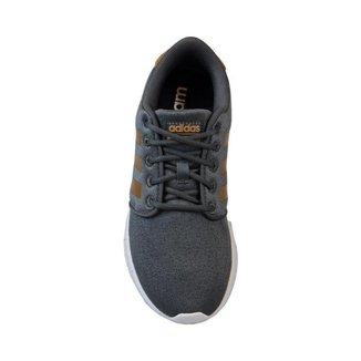 Tênis Esportivo QT Racer Adidas Cinza/Ouro