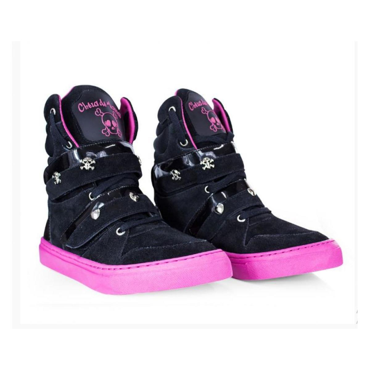 Tênis Feminino Couro Bota de Treino Cheia de Marra Fitness - Preto e Pink -  Compre Agora  6b0cdf67e27