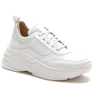 Tênis Feminino Sneaker Chunky Super Confort Branco