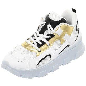 Tênis Feminino Sneaker Colorido Conforto Sola alta