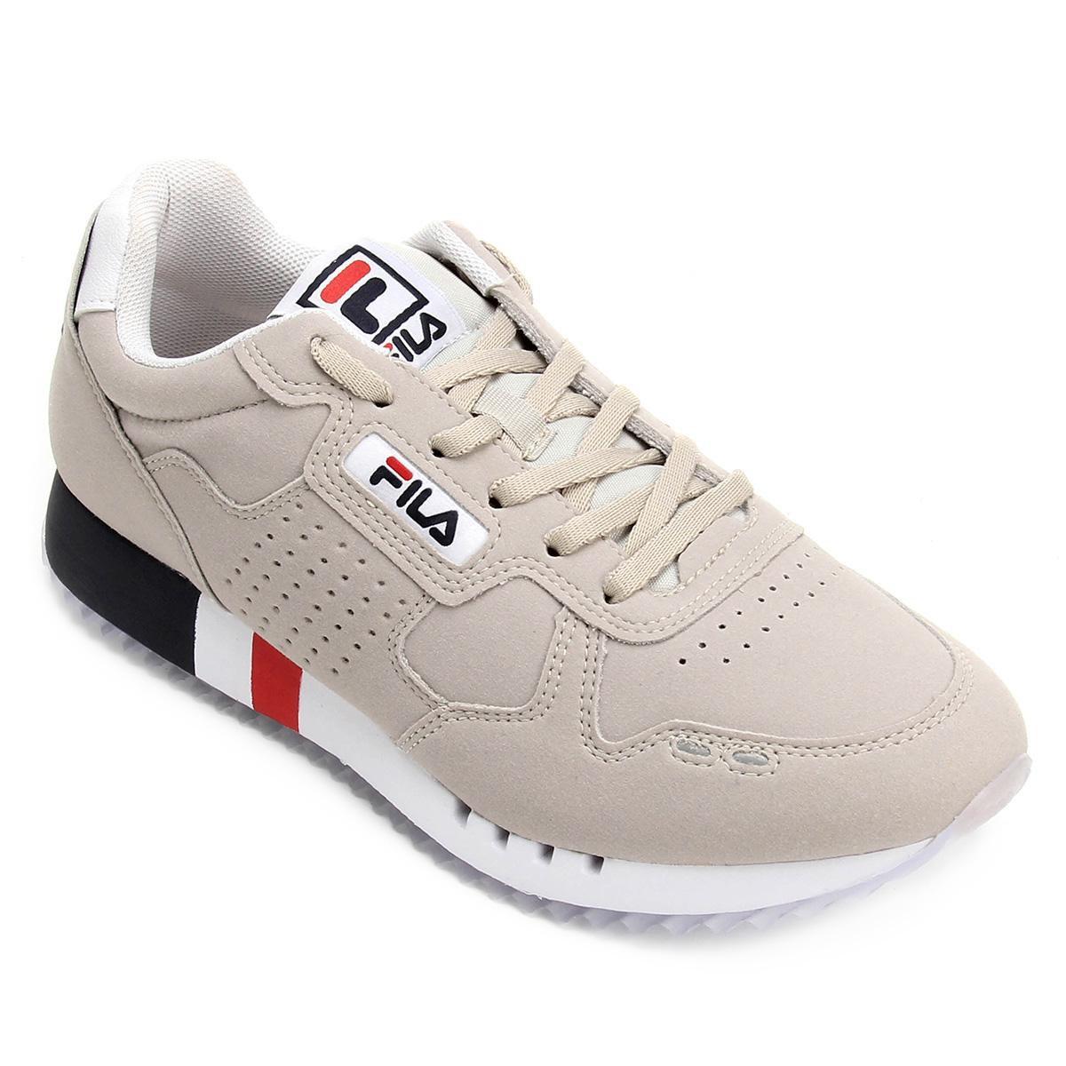 d3e13e61297c6 Tênis Fila Classic 92 Masculino - Bege e Branco - Compre Agora ...