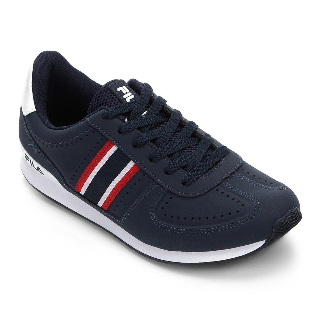 529b08c538797 Tenis Fila F-Retro Sport 2.0 Sl Masculino - Azul e Vermelho - Compre Agora