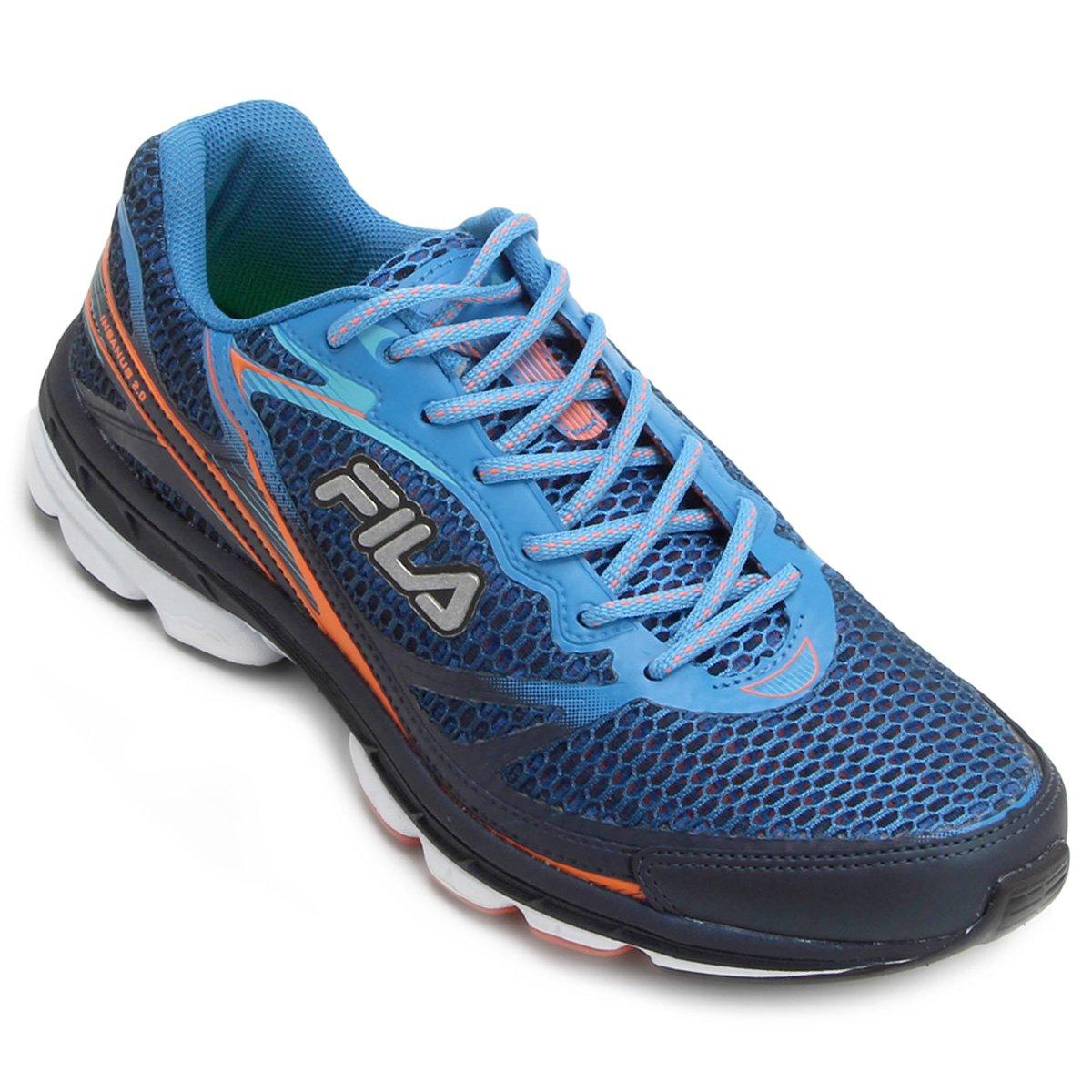 dc2bb8deb Tênis Fila Insanus 2.0 Masculino - Azul e Laranja | Netshoes