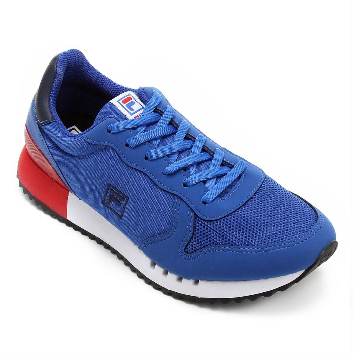 5786e6a0c0e Tênis Fila Retrô Runner Masculino - Azul e Marinho - Compre Agora ...