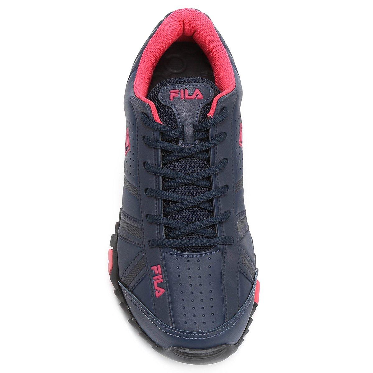 Tênis Fila Slant Force Feminino - Marinho e Pink - Compre Agora ... e5ab44038c184