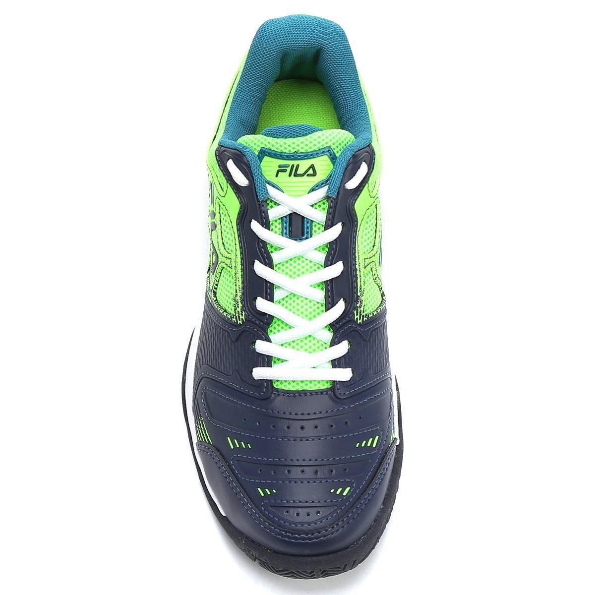 Tênis Fila Top Spin 2.0 Masculino - Marinho e Verde - Compre Agora ... 67b30a1e455a9