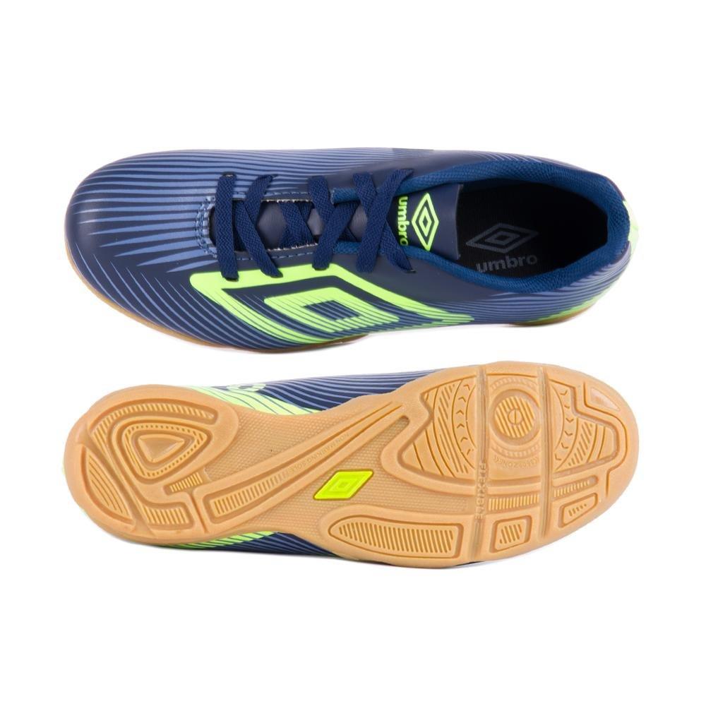 40d469897b Tênis Futsal Footwear Speed Ii Jr - Umbro - Marinho e Verde Limão
