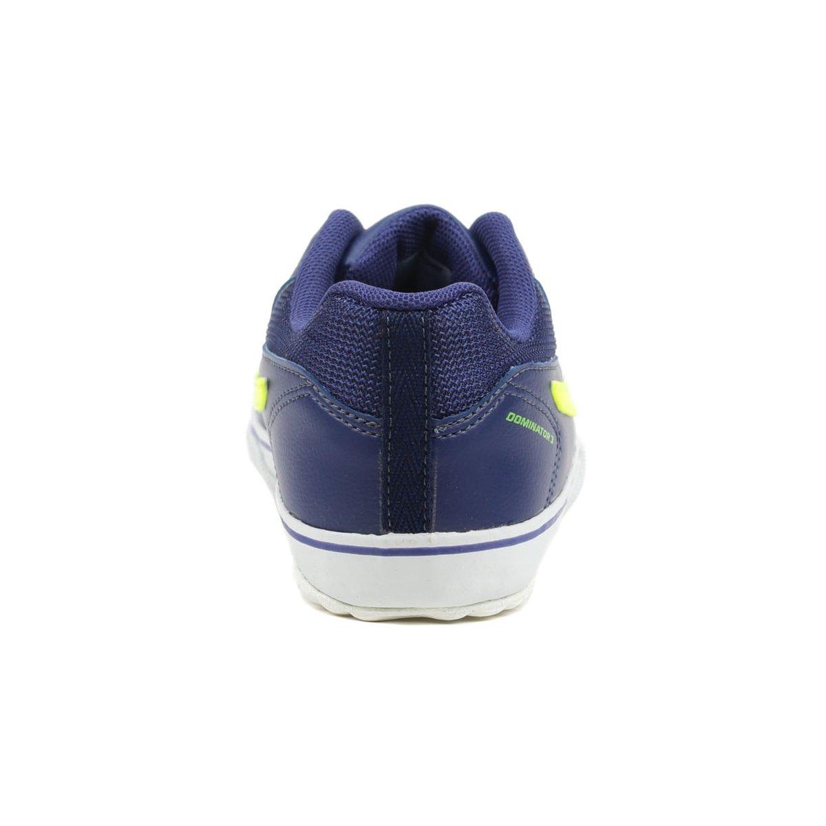 d047880e20 ... Tênis Futsal Infantil Para Menino Topper Dominator Iii Jr Azul marinho verde  ...