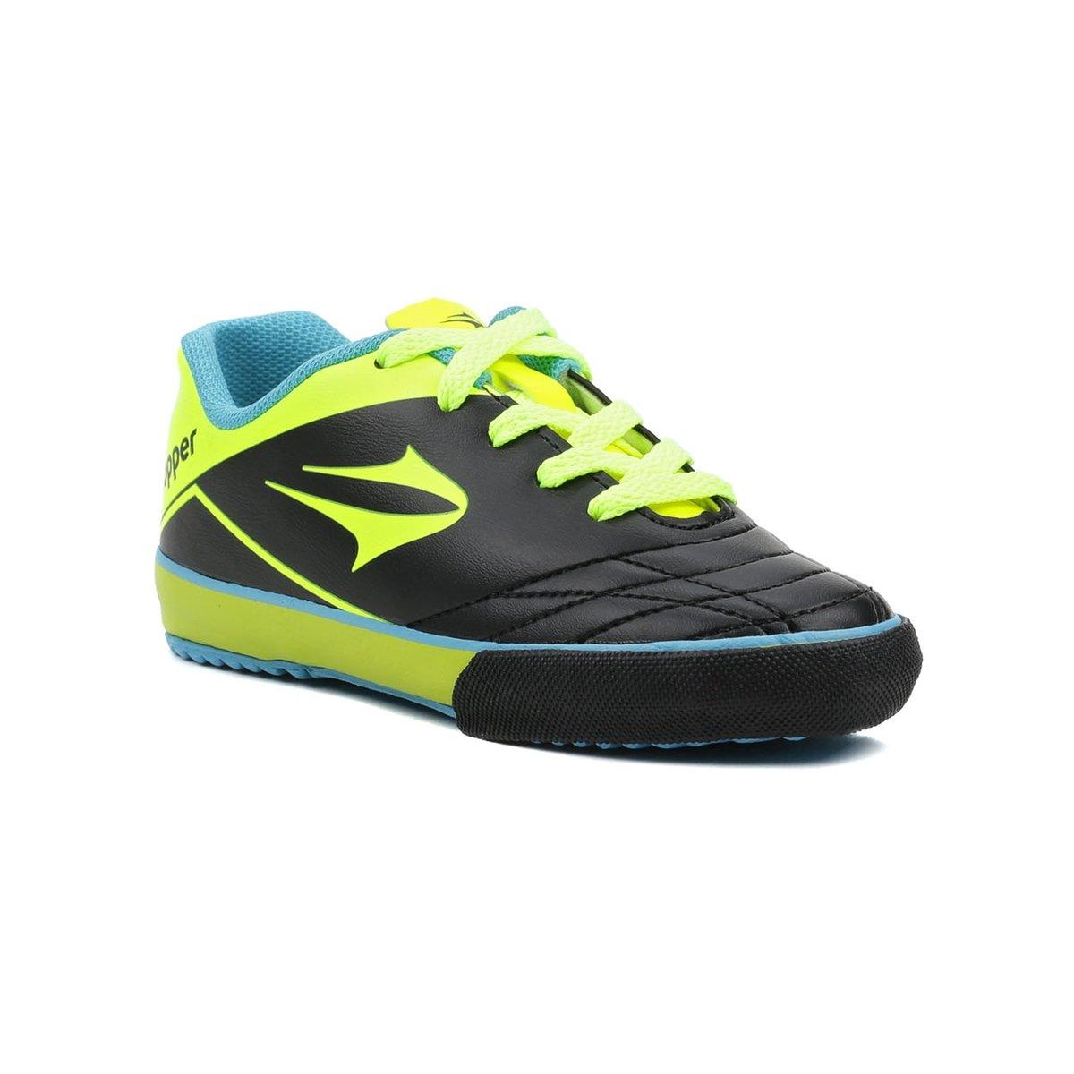 Tênis Futsal Infantil Para Menino Topper Frontier Vii Jr Preto verde -  Compre Agora  5e33f56b297c9