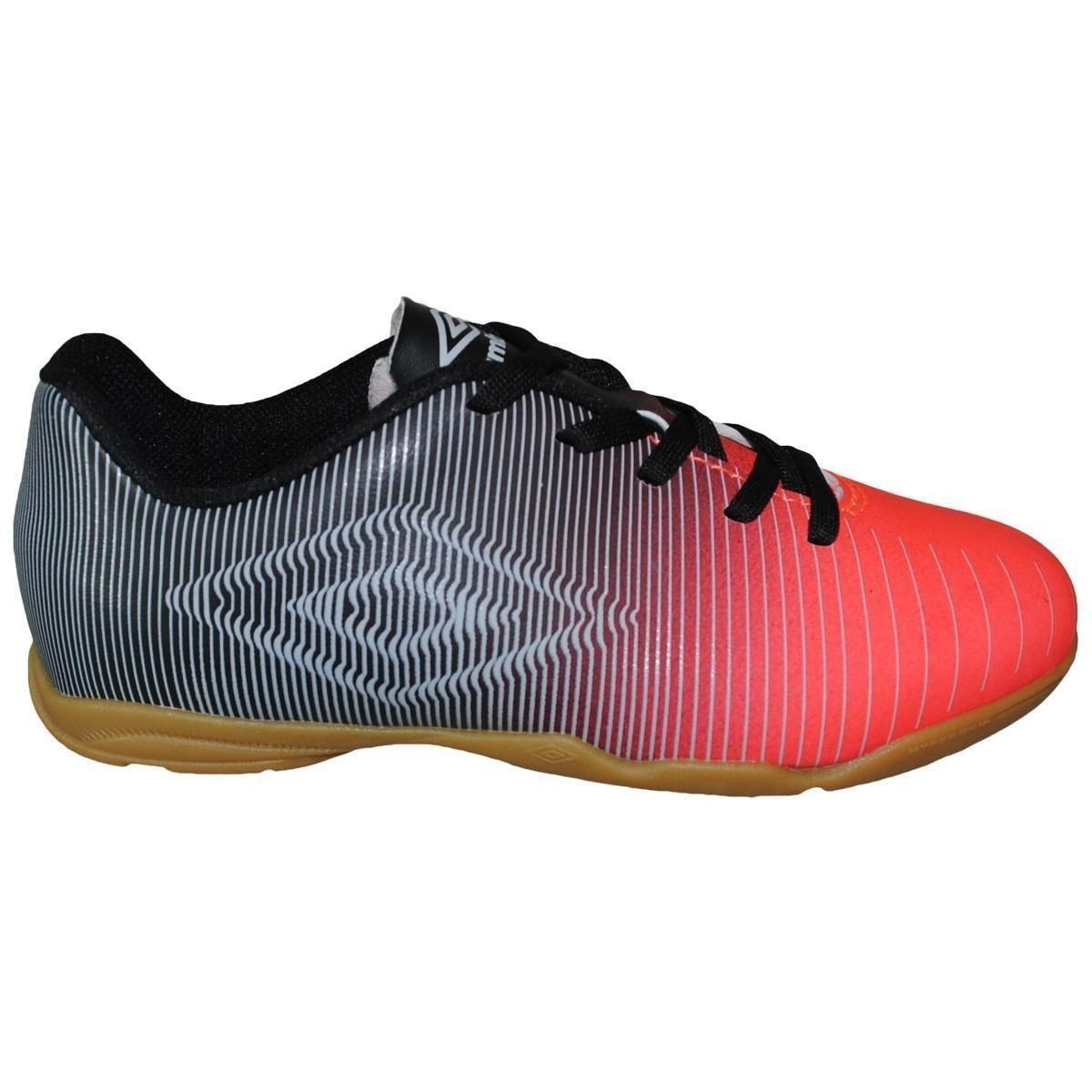 211bb987e3671 Tenis Futsal Umbro Vibe J - Vermelho e Preto - Compre Agora