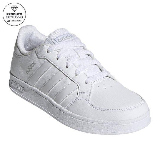 Tênis Infantil Adidas Breaknet K - Branco+Cinza