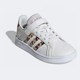 Tênis Infantil Adidas Grand Court Leopardo