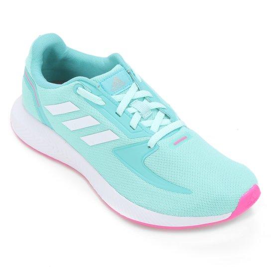 Tênis Infantil Adidas Runfalcon 2.0 K - Verde+Branco