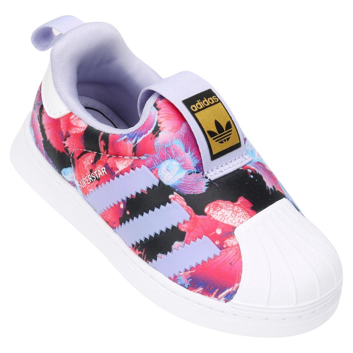 d52bbd02485ca Tênis Infantil Adidas Superstar 360 - Roxo - Compre Agora