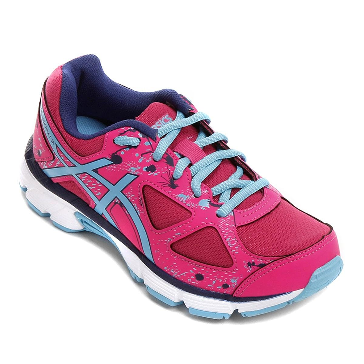 de9e29da8e4 Tênis Infantil Asics Gel-Light Play 3 A Gs Masculino - Pink e Azul - Compre  Agora