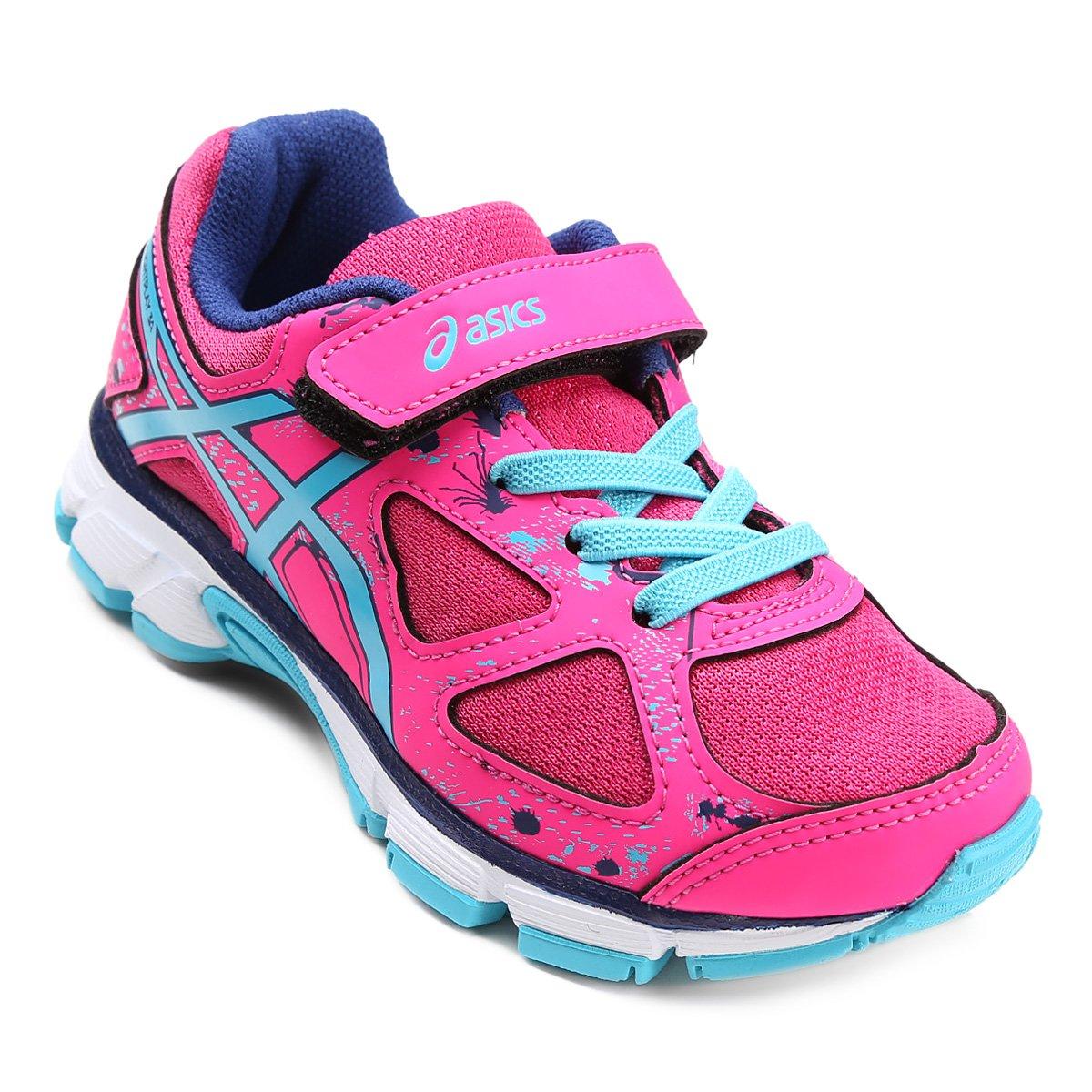 f6d781c1ed7 Tênis Infantil Asics Gel Lightplay 3 A - Pink e Azul - Compre Agora ...