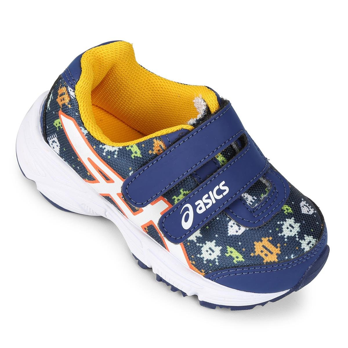 c4af658cd0d47 Tênis Infantil Asics Sugar Baby 2 TS - Azul e amarelo - Compre Agora ...