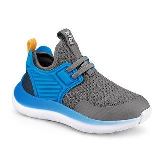 Tênis Infantil Bibi Faster Masculino Azul c Grafite 1166017