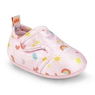 Tênis Infantil Bibi First Feminino Rosa Rainbow 1130029