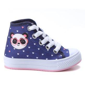 Tênis Infantil Cano Alto Kurz Panda Feminino