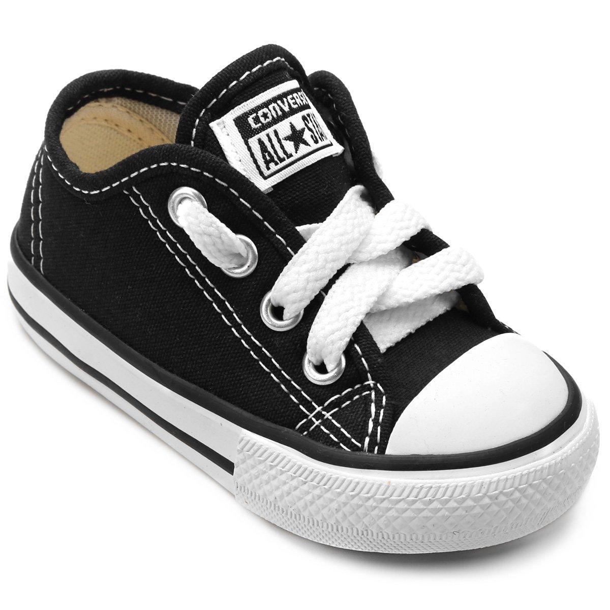 97507d4ad Tênis Infantil Converse All Star Chuck Taylor Border Baby - Preto - Compre  Agora