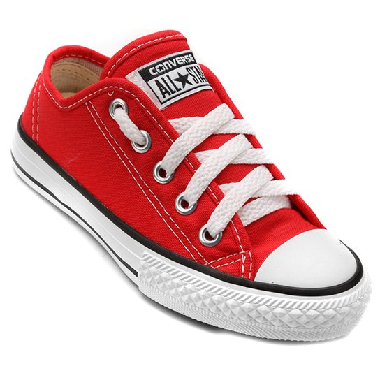 Tênis Infantil Converse All Star Chuck Taylor Border Vermelho Netshoes