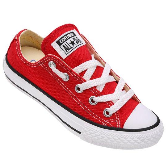 Tênis Infantil Converse All Star Chuck Taylor - Vermelho+Preto