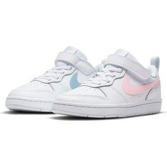 Tênis Infantil Couro Nike Court Borough Low 2 MWH GP Feminino