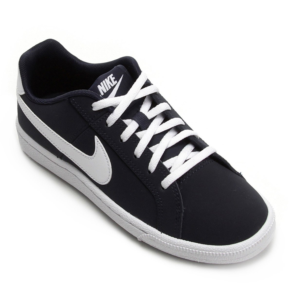 611a91cb747d8 Tênis Infantil Couro Nike Court Royale Masculino - Preto e Gelo ...