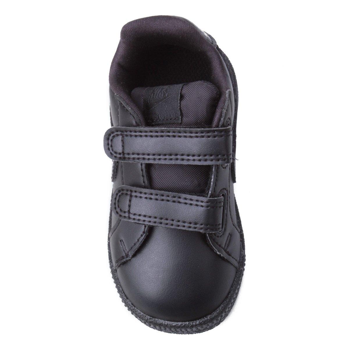 Tênis Infantil Couro Nike Court Royale Sl Masculino - Preto - Compre ... cb81caed12958