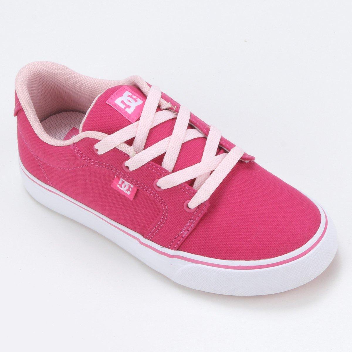 574438995b Tênis Infantil DC Shoes Anvil Tx La 1 Feminino - Pink - Compre Agora ...