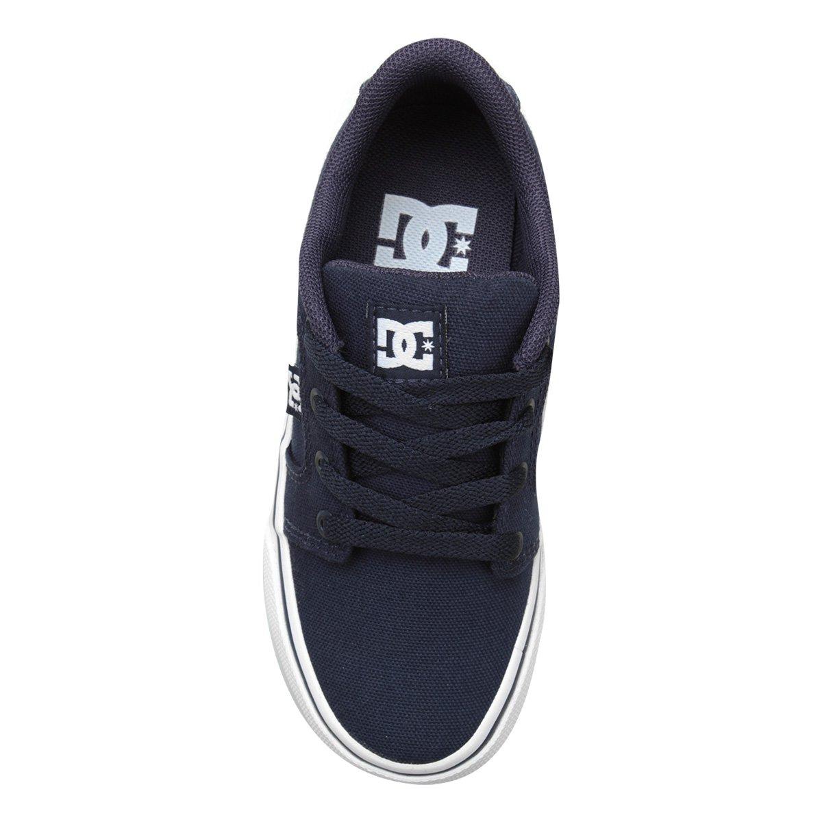 5373887636 Tênis Infantil DC Shoes Anvil Tx La Masculino - Marinho - Compre ...