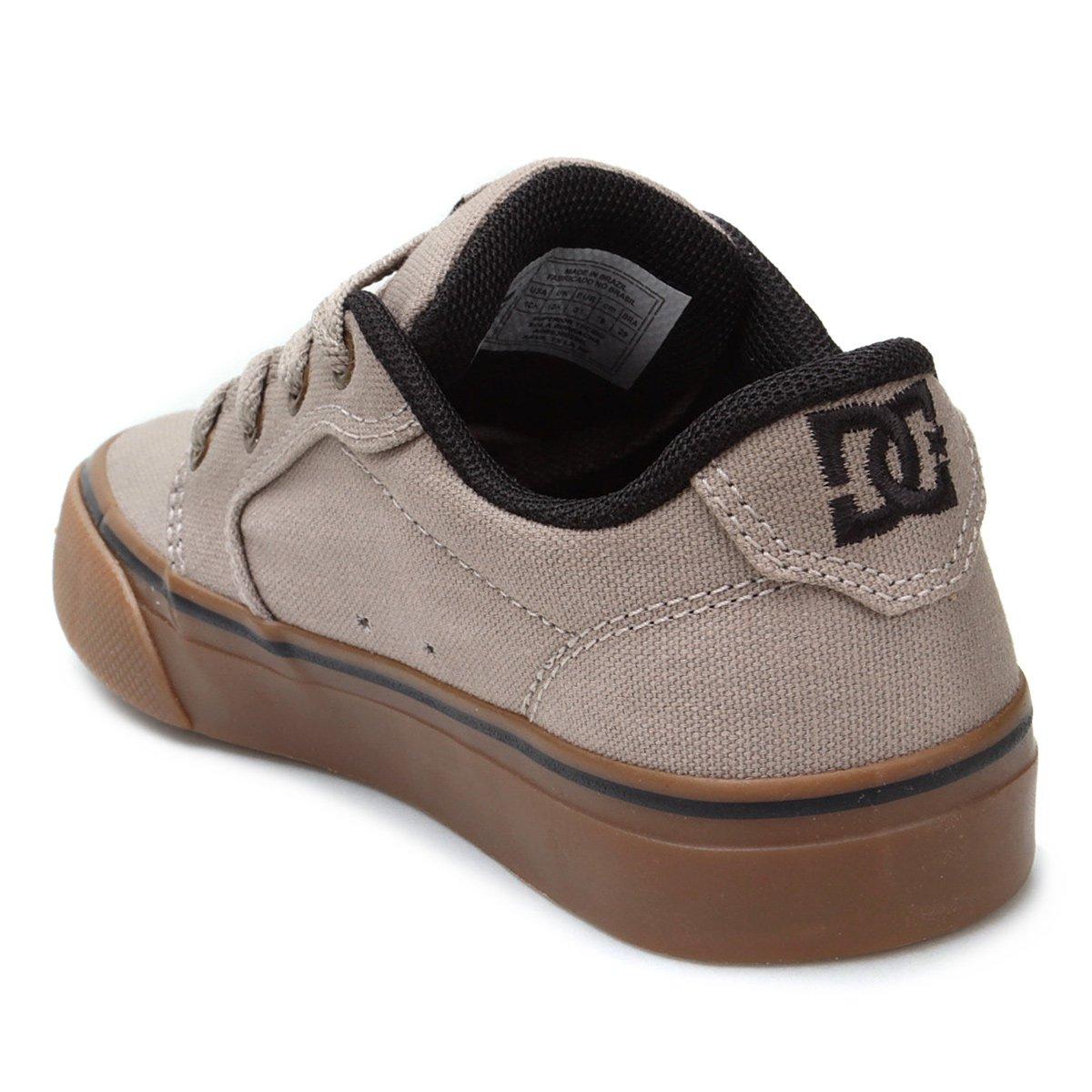 a53e5db53e Tênis Infantil DC Shoes Anvil Tx La Masculino - Cinza Claro - Compre ...
