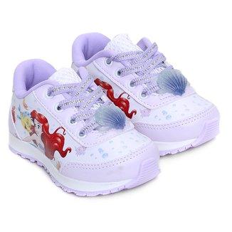 Tênis Infantil Disney Jogging Ariel Feminino