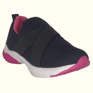 Tênis Infantil feminino Gibizinho Preto e rosa