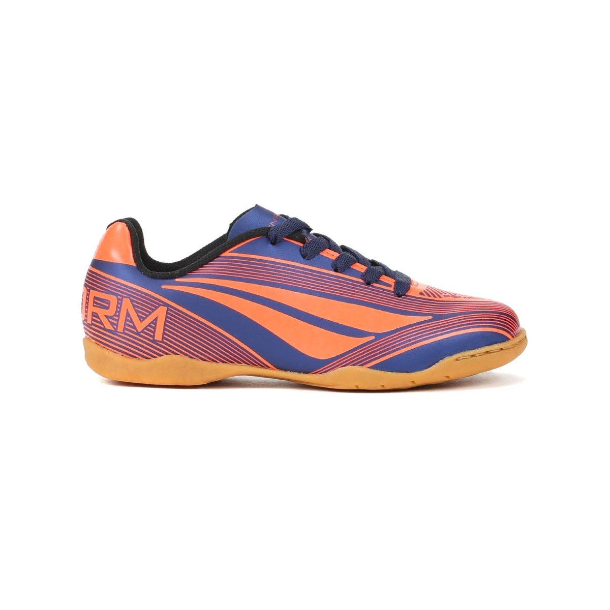 796b04cdc0 ... Tênis Infantil Futsal Para Menino Penalty Storm Vi - Coral azul marinho  ...