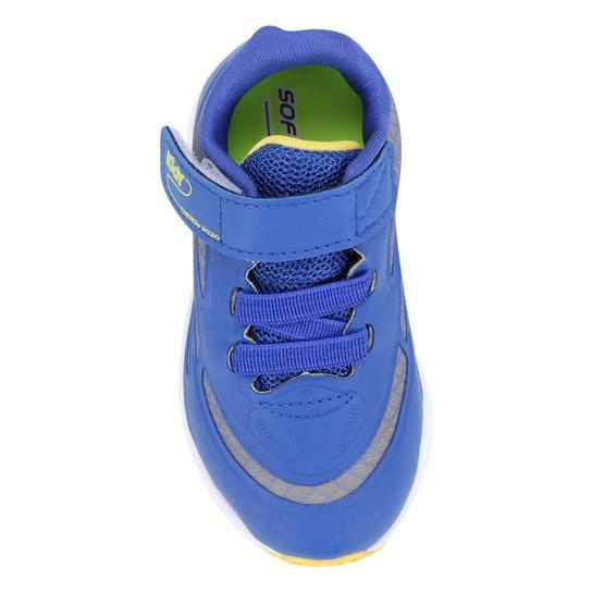 Tenis Infantil Kidy Energy Baby Respi-Tec Masculino - Azul+amarelo