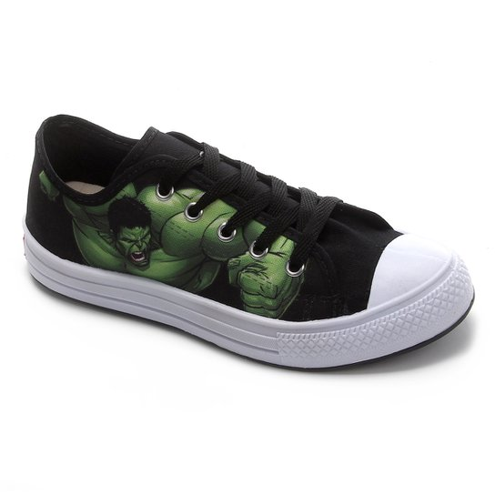 Tênis Infantil Marvel Hulk Masculino - Preto