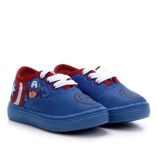 Tênis Infantil Marvel Monticar Capitão América Masculino - Azul