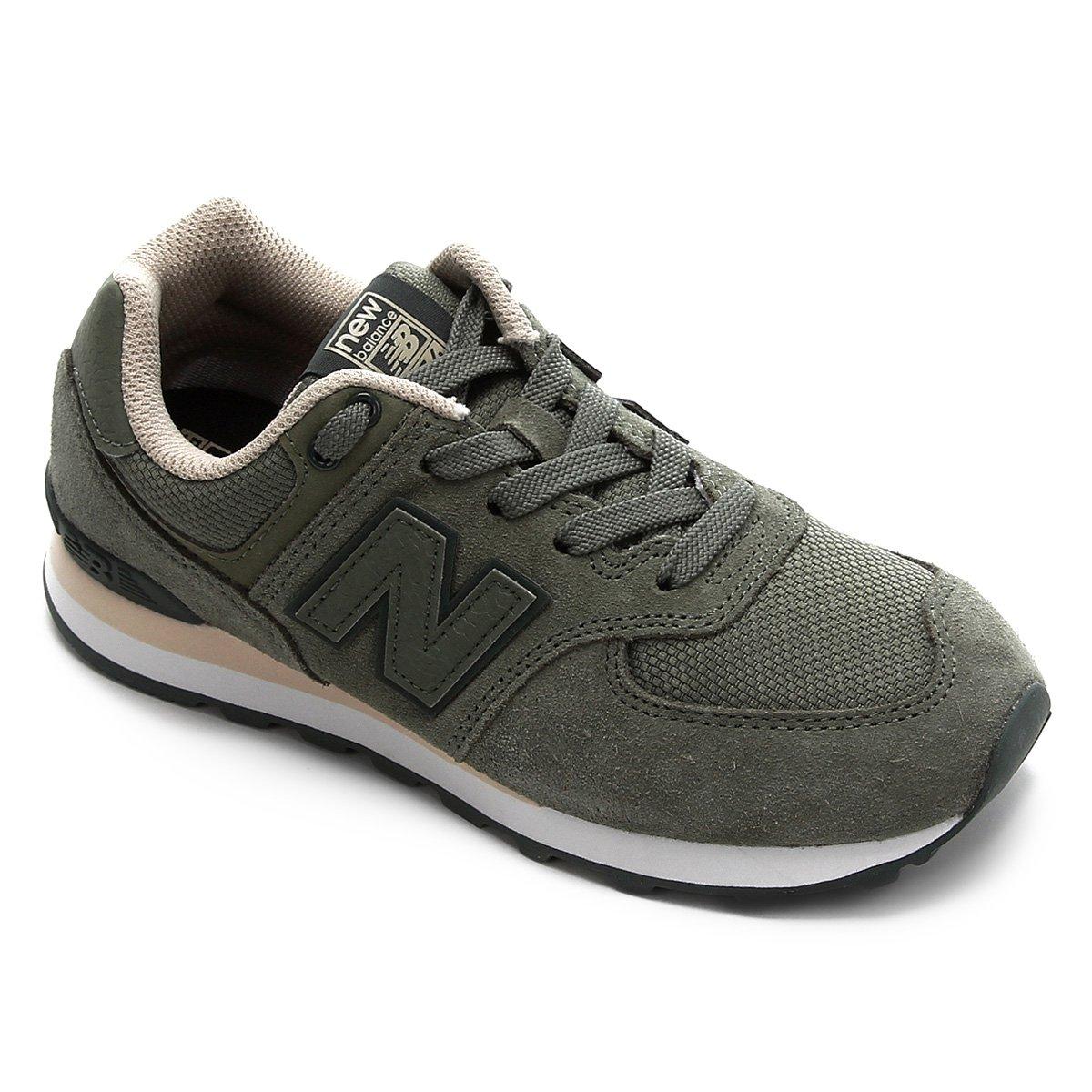 Tênis Infantil New Balance K574 - Verde Branco | Netshoes