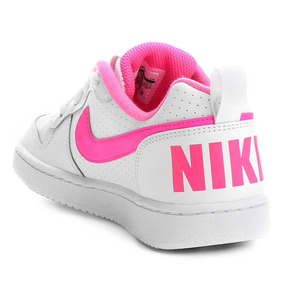 Tênis Infantil Nike Court Borough Low Feminino - Branco e