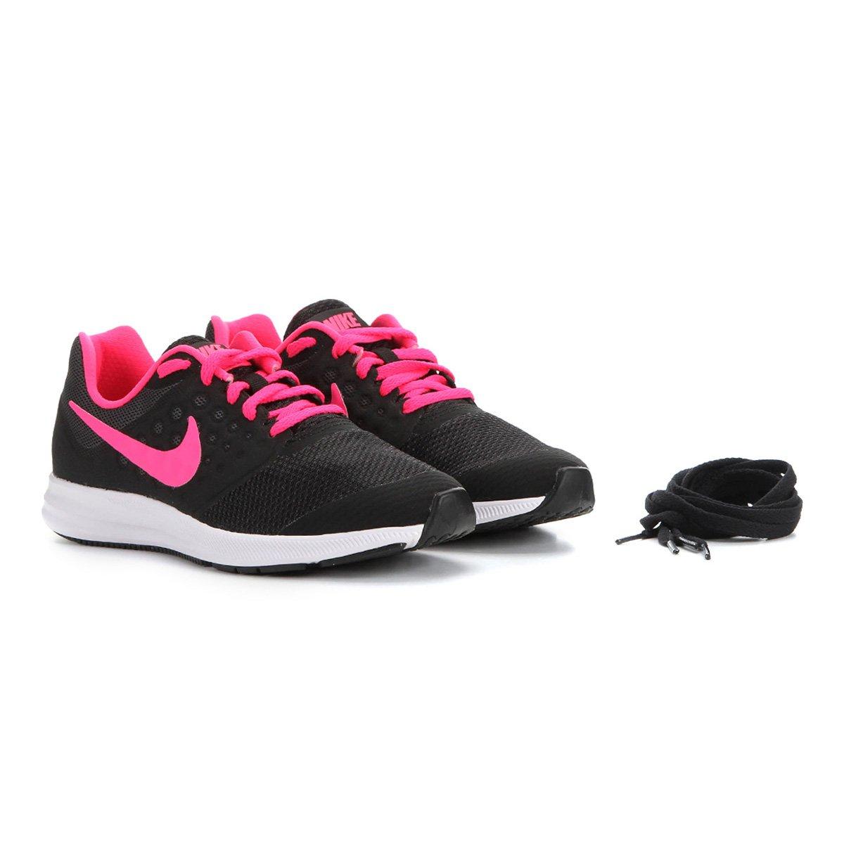 Tênis Infantil Nike Downshifter 7 Preto E Rosa