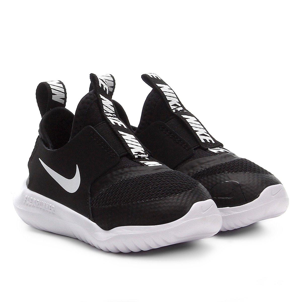 économiser b9393 08fb0 Tênis Infantil Nike Flex Runner TD - Preto e Branco