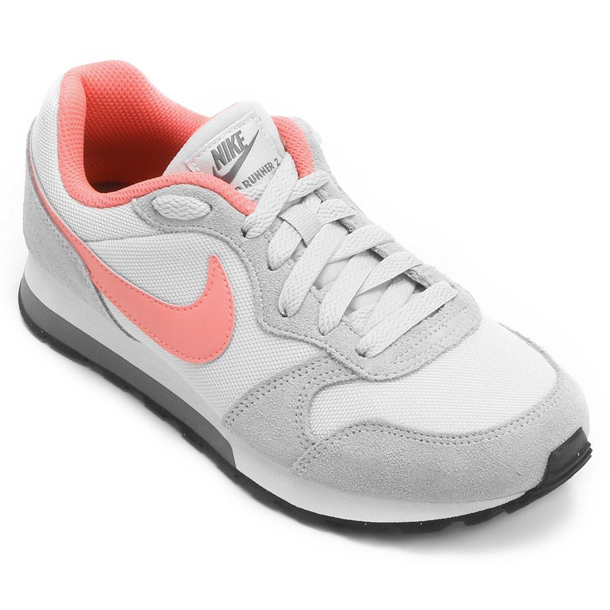 6d943ec716 Tênis Infantil Nike Md Runner 2 - Cinza e Rosa - Compre Agora