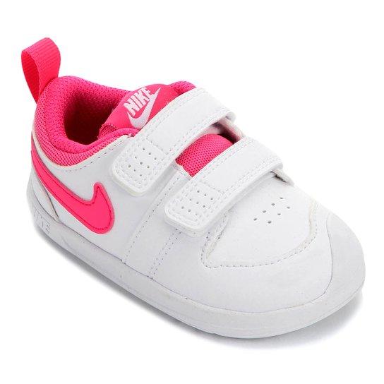 regional Equipo Maravilla  Tênis Infantil Nike Pico 5 - Branco e Pink | Netshoes